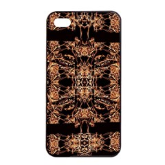 Dark Ornate Abstract  Pattern Apple Iphone 4/4s Seamless Case (black) by dflcprints