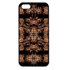 Dark Ornate Abstract  Pattern Apple Iphone 5 Seamless Case (black) by dflcprints