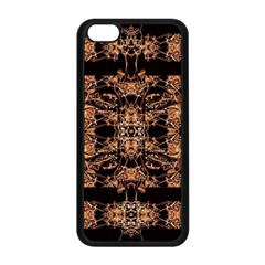 Dark Ornate Abstract  Pattern Apple Iphone 5c Seamless Case (black) by dflcprints