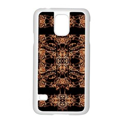 Dark Ornate Abstract  Pattern Samsung Galaxy S5 Case (white) by dflcprints