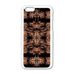 Dark Ornate Abstract  Pattern Apple Iphone 6/6s White Enamel Case by dflcprints