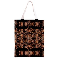 Dark Ornate Abstract  Pattern Classic Light Tote Bag by dflcprints