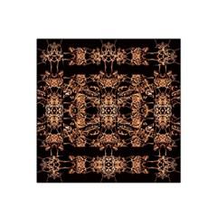 Dark Ornate Abstract  Pattern Satin Bandana Scarf by dflcprints