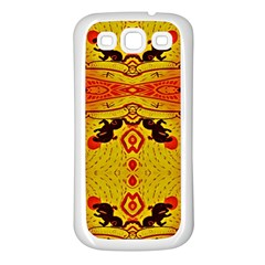 Green Sun Samsung Galaxy S3 Back Case (white) by MRTACPANS