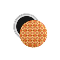 Peach Pineapple Abstract Circles Arches 1 75  Magnets by DianeClancy