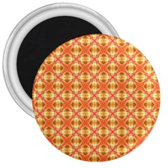 Peach Pineapple Abstract Circles Arches 3  Magnets by DianeClancy
