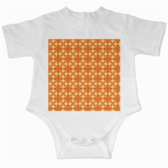 Peach Pineapple Abstract Circles Arches Infant Creepers by DianeClancy
