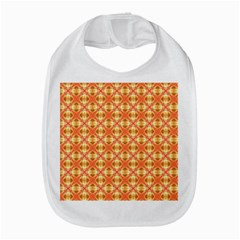 Peach Pineapple Abstract Circles Arches Bib by DianeClancy