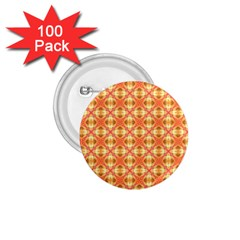 Peach Pineapple Abstract Circles Arches 1 75  Buttons (100 Pack)  by DianeClancy