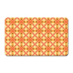 Peach Pineapple Abstract Circles Arches Magnet (rectangular) by DianeClancy