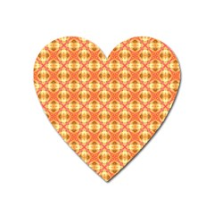 Peach Pineapple Abstract Circles Arches Heart Magnet by DianeClancy