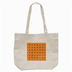 Peach Pineapple Abstract Circles Arches Tote Bag (cream) by DianeClancy