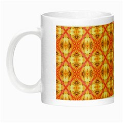 Peach Pineapple Abstract Circles Arches Night Luminous Mugs by DianeClancy