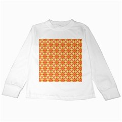 Peach Pineapple Abstract Circles Arches Kids Long Sleeve T Shirts by DianeClancy
