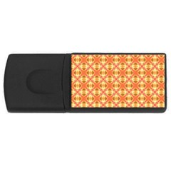 Peach Pineapple Abstract Circles Arches Usb Flash Drive Rectangular (4 Gb)  by DianeClancy