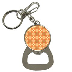 Peach Pineapple Abstract Circles Arches Bottle Opener Key Chains by DianeClancy