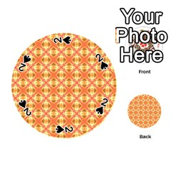 Peach Pineapple Abstract Circles Arches Playing Cards 54 (round)