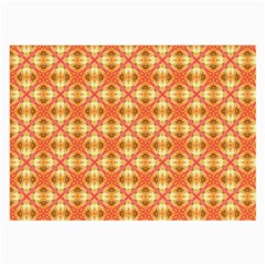 Peach Pineapple Abstract Circles Arches Large Glasses Cloth (2 Side) by DianeClancy