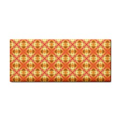 Peach Pineapple Abstract Circles Arches Hand Towel by DianeClancy