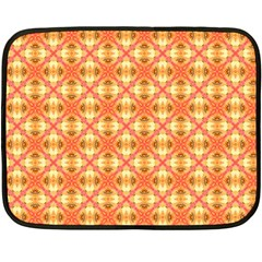 Peach Pineapple Abstract Circles Arches Fleece Blanket (mini) by DianeClancy