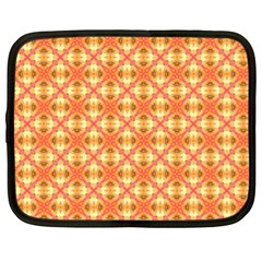 Peach Pineapple Abstract Circles Arches Netbook Case (xl)  by DianeClancy