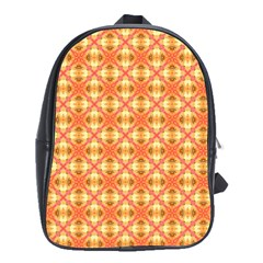 Peach Pineapple Abstract Circles Arches School Bags(large)  by DianeClancy