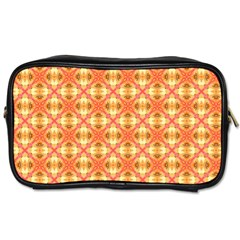 Peach Pineapple Abstract Circles Arches Toiletries Bags 2 Side by DianeClancy