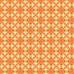 Peach Pineapple Abstract Circles Arches Magic Photo Cubes by DianeClancy