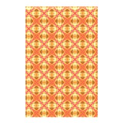 Peach Pineapple Abstract Circles Arches Shower Curtain 48  X 72  (small)  by DianeClancy