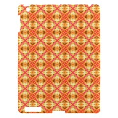 Peach Pineapple Abstract Circles Arches Apple Ipad 3/4 Hardshell Case by DianeClancy