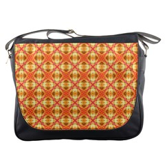 Peach Pineapple Abstract Circles Arches Messenger Bags by DianeClancy