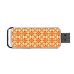 Peach Pineapple Abstract Circles Arches Portable Usb Flash (two Sides) by DianeClancy