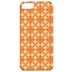 Peach Pineapple Abstract Circles Arches Apple Iphone 5 Classic Hardshell Case by DianeClancy