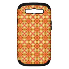 Peach Pineapple Abstract Circles Arches Samsung Galaxy S Iii Hardshell Case (pc+silicone) by DianeClancy