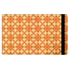 Peach Pineapple Abstract Circles Arches Apple Ipad 3/4 Flip Case by DianeClancy