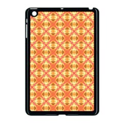 Peach Pineapple Abstract Circles Arches Apple Ipad Mini Case (black) by DianeClancy