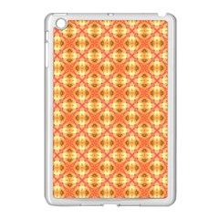 Peach Pineapple Abstract Circles Arches Apple Ipad Mini Case (white) by DianeClancy