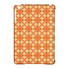 Peach Pineapple Abstract Circles Arches Apple Ipad Mini Hardshell Case (compatible With Smart Cover) by DianeClancy