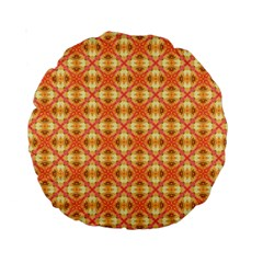 Peach Pineapple Abstract Circles Arches Standard 15  Premium Round Cushions by DianeClancy