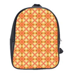Peach Pineapple Abstract Circles Arches School Bags (xl)  by DianeClancy