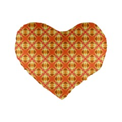 Peach Pineapple Abstract Circles Arches Standard 16  Premium Heart Shape Cushions by DianeClancy