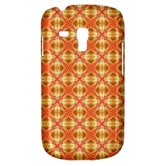 Peach Pineapple Abstract Circles Arches Samsung Galaxy S3 Mini I8190 Hardshell Case by DianeClancy