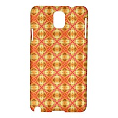 Peach Pineapple Abstract Circles Arches Samsung Galaxy Note 3 N9005 Hardshell Case by DianeClancy