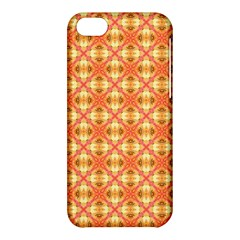 Peach Pineapple Abstract Circles Arches Apple Iphone 5c Hardshell Case by DianeClancy