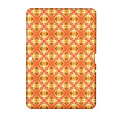 Peach Pineapple Abstract Circles Arches Samsung Galaxy Tab 2 (10 1 ) P5100 Hardshell Case  by DianeClancy