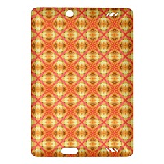 Peach Pineapple Abstract Circles Arches Amazon Kindle Fire Hd (2013) Hardshell Case by DianeClancy
