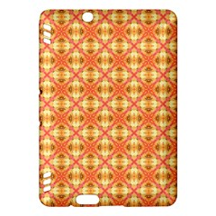 Peach Pineapple Abstract Circles Arches Kindle Fire Hdx Hardshell Case by DianeClancy