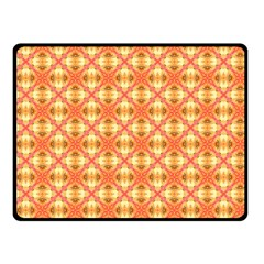 Peach Pineapple Abstract Circles Arches Double Sided Fleece Blanket (small)  by DianeClancy