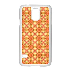 Peach Pineapple Abstract Circles Arches Samsung Galaxy S5 Case (white) by DianeClancy