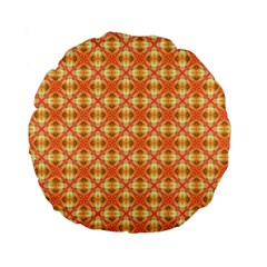 Peach Pineapple Abstract Circles Arches Standard 15  Premium Flano Round Cushions by DianeClancy